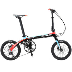 SAVA-16-in-Folding-Bike-Carbon-Fiber-Frame-Mini-City-SHIMANO-9S-Foldable-Bicycle