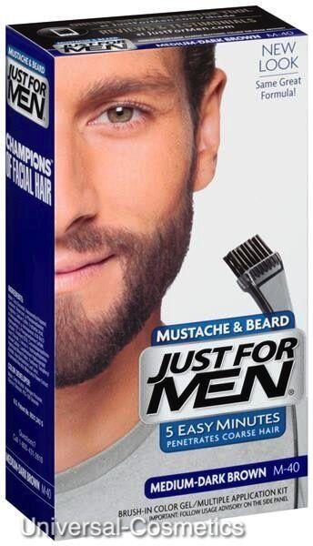 3x Just for Men Moustache Beard GEL Nat Med Dark Brown for sale online  8e23956cda9f3
