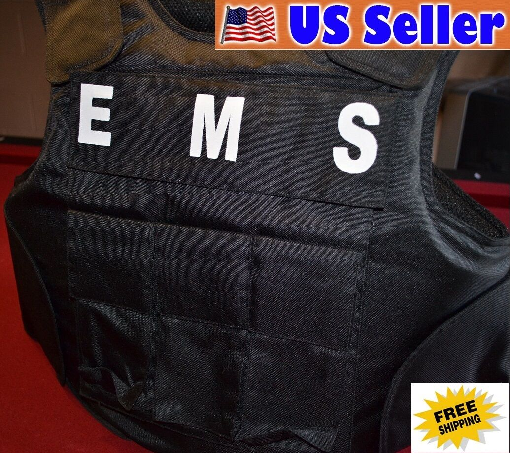 EMS TAGS    3A SIZE MEDIUM Body Armor Bullet Proof   Stab Proof  Vest NEW