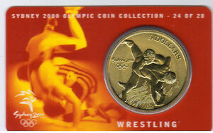 2000-5-RAM-UNC-Coin-Sydney-Olympics-NO-OUTER-COVER-24-of-28-Wrestling