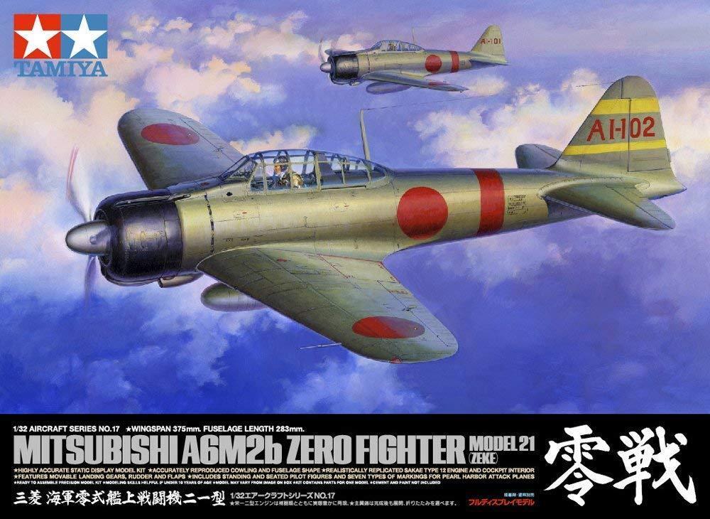 Tamiya 1/32 Aereo Serie No.17 Giappone Navy Mitsubishi Zero Tipo Fighter 21 New