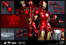 HOT TOYS IRON MAN MARK III TONY STARK DIECAST 1:6 FIGURE ~Sealed in Brown Box~