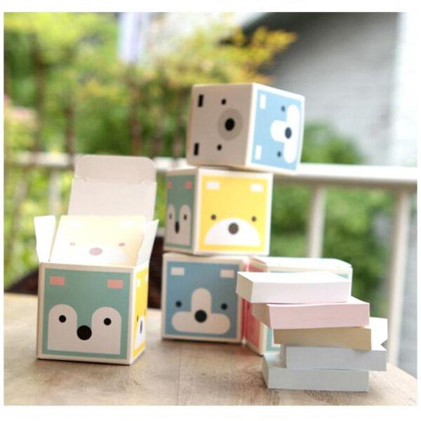 6 pcs Cute Animal Pattern Mini Paper Notepad Memo Pad Note Notepaper in Box GBP