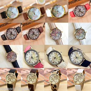 FL-1PCs-New-Fashion-Quartz-DIY-Map-Leather-Bracelet-Watch-For-Women