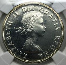 1957   Canada PL Silver Dollar  NGC  Gem  Prooflike 66 Superb Example