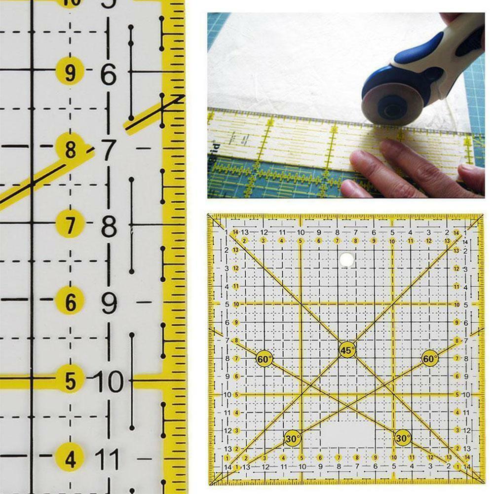 Transparent quilten nähen patchwork lineal schneidwerkzeug schneider handwerk v