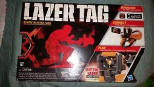 New-NERF-Hasbro-Lazer-Laser-Tag-Single-Blaster-Pack-Gun-Use-w-iPhone-iPod