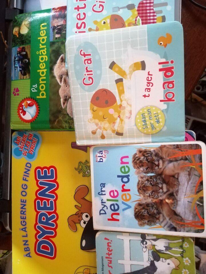 papbøger, plasticbøger, dyr og andre