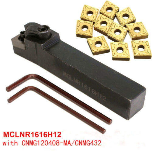 Details about  /10* MCLNR1616H12 16×100mm External Lathe Turning Holder for CNMG120408// CNMG42*