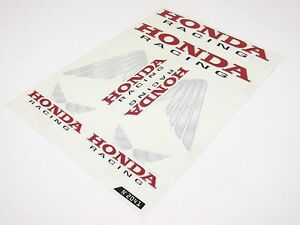 honda wings racing aufkleber set sticker 6 teilig rot wei. Black Bedroom Furniture Sets. Home Design Ideas