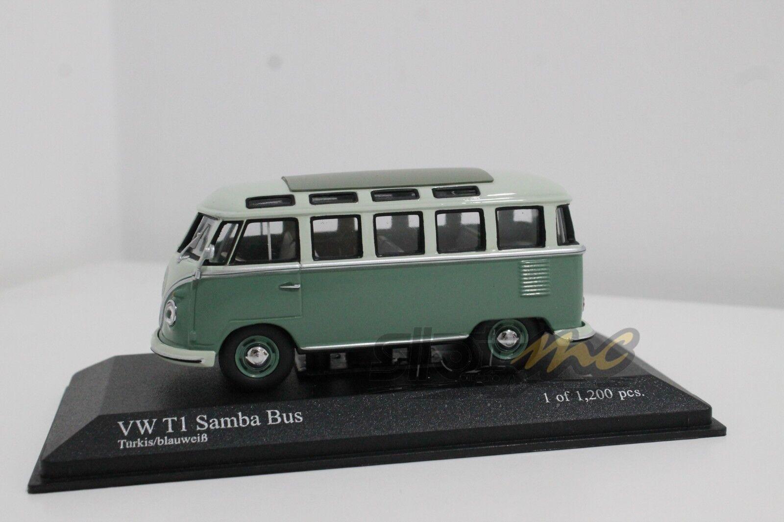 Minichamps 430052306 VW T1 Samba autobus 1961 Turchese Turchese Turchese blubianca 1 43  nuovo b8882f