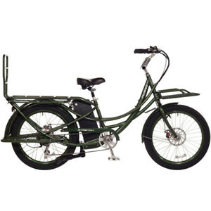 2018-Pedego-Stretch-Electric-Cargo-Bike-eBike-Olive-48V-13Ah-Battery-New