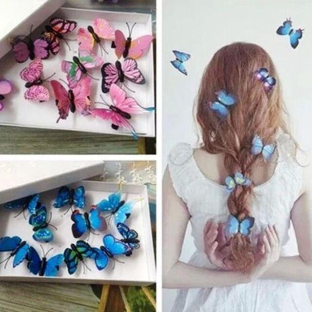 5 PCS Bridal Hair Jewelry Butterfly Hair Clips Wedding Pins Decor Tiara Jewelry