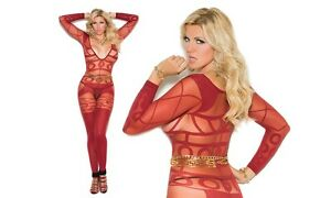 519e69f8a2d Image is loading Long-sleeve-sheer-amp-opaque-bodystocking-open-crotch-