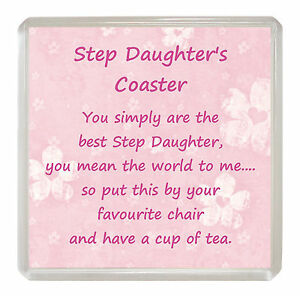 STEP-DAUGHTER-Drink-Coaster-Fun-Poem-Novelty-Birthday-Christmas-Gift-Present