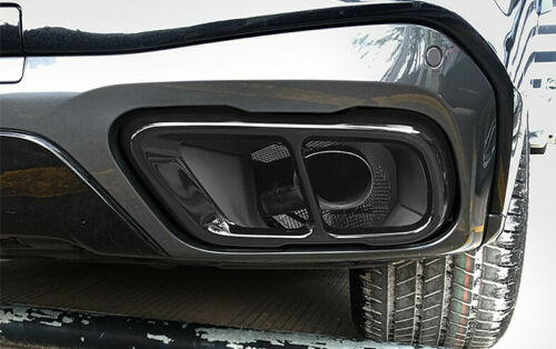 304 Steel Exhaust Muffler Tail Tip Pipe Black Trim For BMW X7 X5 G05 2019 2020