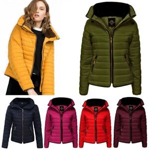 New-Womens-Kids-Ladies-Quilted-Padded-Puffer-Bubble-Fur-Collar-Warm-Jacket-Coat