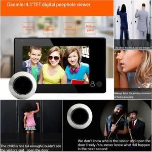 Digitale-145-Tuerspion-Farbdisplay-4-3-034-LCD-Tuerkamera-Kamera-Door-Peephole