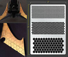 HEX MESH VINYL SELF ADHESIVE AIRBRUSH STENCIL WARGAMING FALLOUT HOBBIES