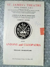 1951 Theatre Programme VIVIEN LEIGH in ANTONY and CLEOPATRA- W Shakespeare