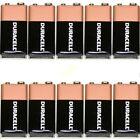 10 x Duracell 9V Batterie MN1604 6LR61 PP3 DATA 2019 oem