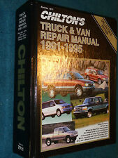 1991-1995 CHEVY JEEP FORD DODGE GMC TOYOTA NISSAN TRUCK & VAN SHOP MANUAL 94 93