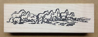 Mounted Rubber Stamps, Western Stamps, Horse, Scenic Stamps, Wild Horses Border