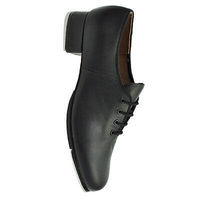 Bloch 301 L Señoras Negro Cuero Zapatos De Tap Jazz