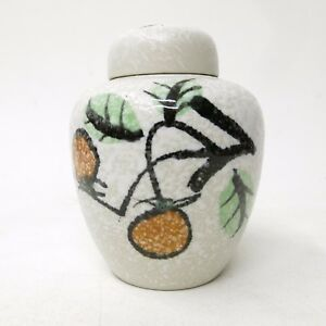 Vintage-Porcelain-Nancy-Japan-Lidded-Ginger-Jar-Urn-Vase-Floral-Branch-Theme