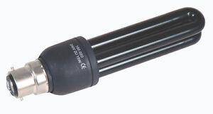 5-X-UV-Lampadina-NERO-luce-risparmio-energetico-alta-intensita-15W-BAIONETTA