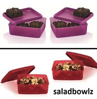 Tupperware Small Square-a-way Containers Set Of 2 6-oz Choose Away Freeship