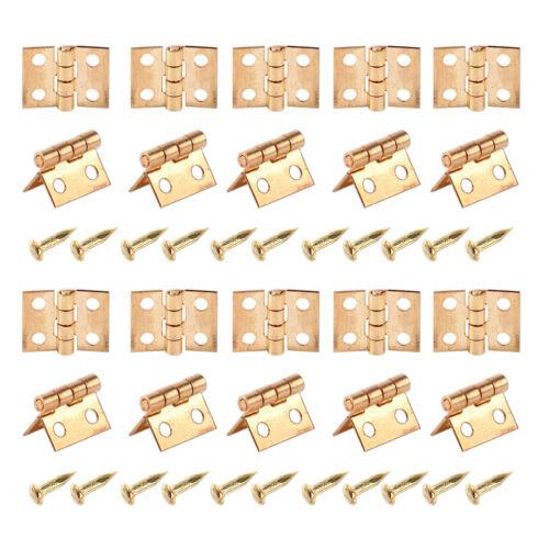20x Scharniere Scharnier Nägeln 1//12 Puppenhaus Schränkchen Schatulle Schublade