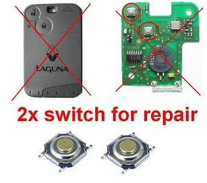 2x micro switch button for repair remote key fob card renault laguna espace ebay. Black Bedroom Furniture Sets. Home Design Ideas