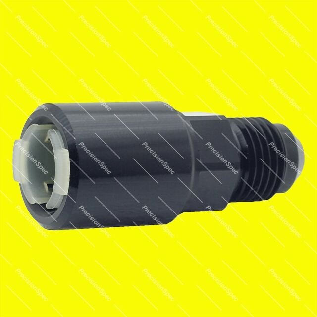 """AN6 6AN Male to 5/16"""" Female Push On Quick Connect Fitting Adapter - Black"""