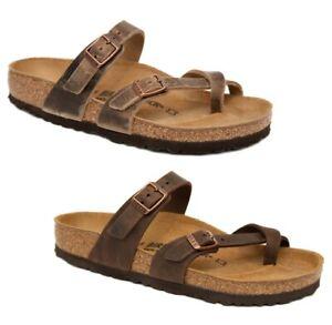 46db2b2ea69d Image is loading Birkenstock-Sandals-MAYARI-tobacco-brown-habana-oiled-waxy-