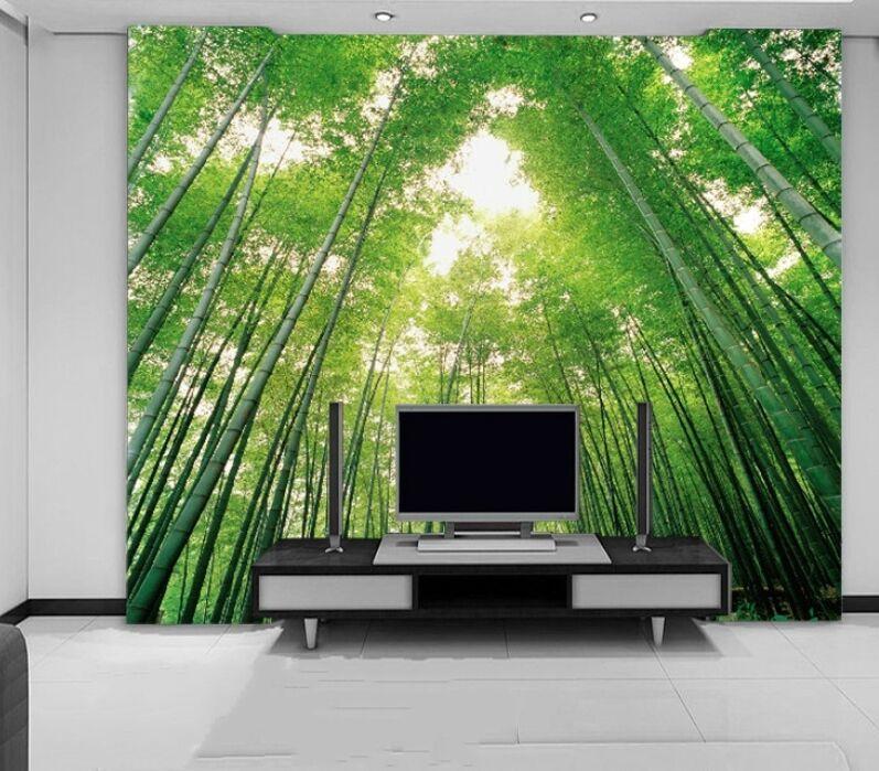3D Der große Grüne bambus 231 Fototapeten Wandbild Fototapete BildTapete Familie
