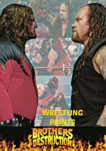 #115 MAKE YOUR SELECTION WWF WWE UNDERTAKER KANE BROTHERS OF DESTRUCTION A4 A3