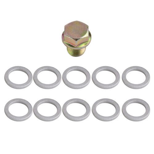 10PCS Gasket For Acura CL Integra Legend NSX RSX TSX Engine Oil Drain Plug Bolt