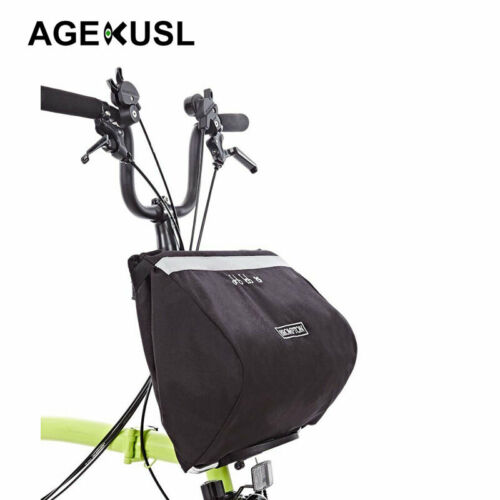 AGEKUSL Basket Bag Front Rack Pack Carrier Bags Foldable For Brompton Bicycle