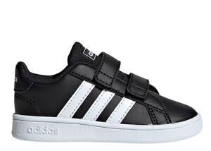 Adidas-GRAND-COURT-EF0117-Nero-Dal-20-al-27-Scarpe-Bambino-Ginnastica