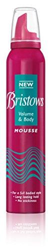 Bristows Hair Mousse Volume plus Body NEW 200ml Foam Volume, Long Lasting Hold