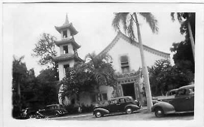 Original Vintage Photo Hawaii Makiki Christian Church Cars Honolulu 40 S 40s Ebay