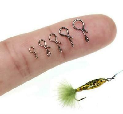50PCS *Black Quick Change for Hooks and Lures Fly Fishing Snap Hooks Set Tools