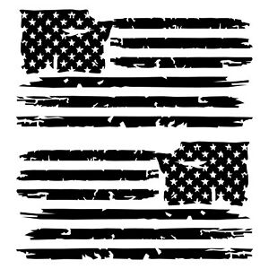 American flag tattered. Details about set of