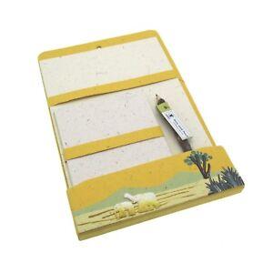 Fair Trade Small Elephant Dung Pocket Notebook Yellow
