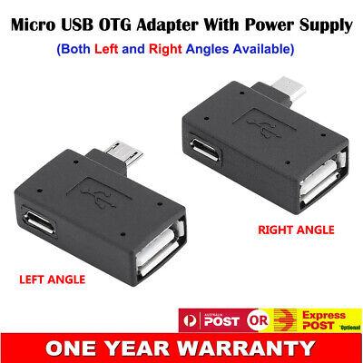 Ángulo Izquierda Derecha Micro USB Adaptador OTG con potencia para Mini Clásico SNES Ultimate
