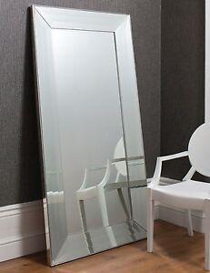 Ferrara X Large Venetian Leaner Floor Wall Mirror Wide Bevelled Frame 183 X 91cm 3592555245441 Ebay