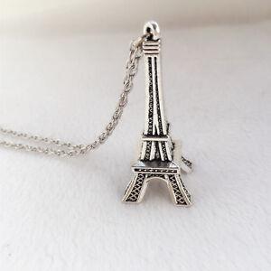 Paris Retro Mini Eiffel Tower Model Cute necklace Love Gift