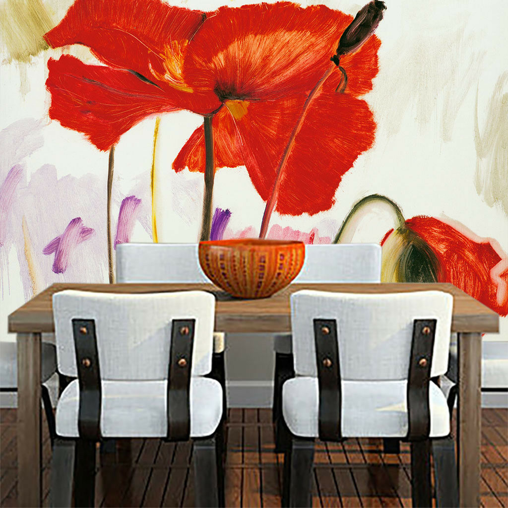 3D Bright ROT Flower 8 Wall Paper Murals Wall Print Wall Wallpaper Mural AU Kyra
