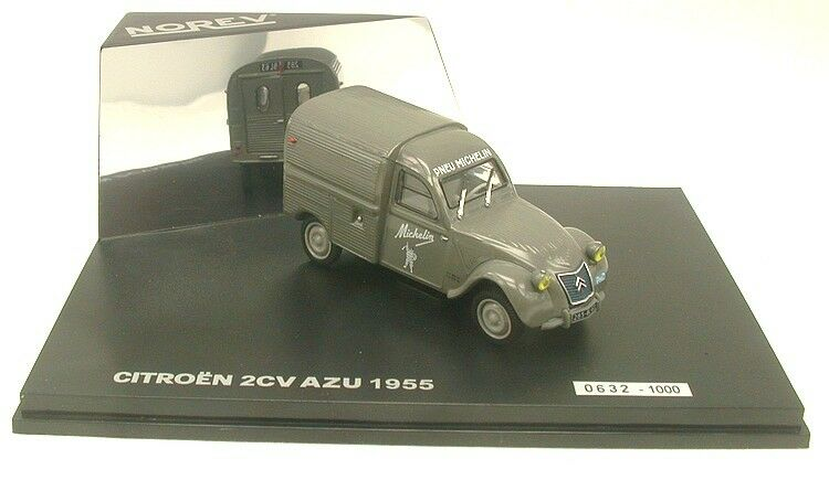 Citroen 2cv Azu 1955  Pneu Michelin  - Série limitée Norev -  Echelle 1 43
